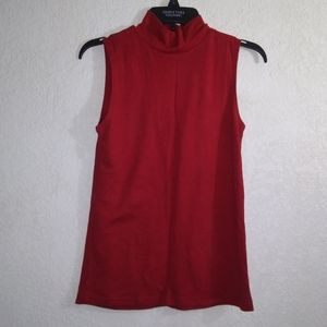 Croft and Barrow, red sleeveless blouse, S